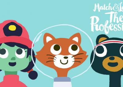 Match & Play The Professions by Petita Demas